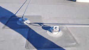 Záchytný systém SpiderLine na streche s PVC fóliou