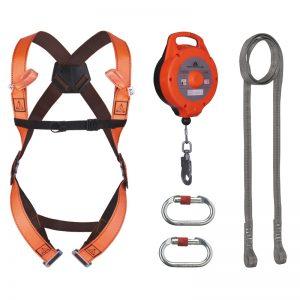 Kompletné zostavy (bezpečnostný popruh, lano, karabina,..)