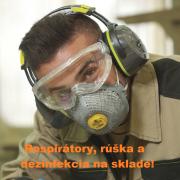 Respirátory, rúška a dezinfekcia na sklade